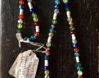 Cheyenne -Pow Wow Beaded Necklace -1960's