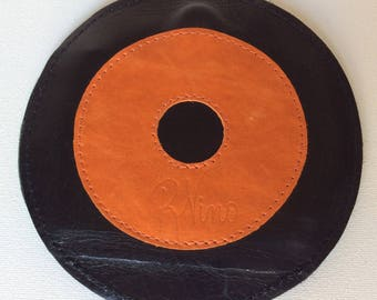 Orange Round Wallet, Orange Wallet, 70s Wallet, Leather Cd Wallet, Round Credit Card Wallet, Round Coin Wallet, Round Coin Purse, Circle