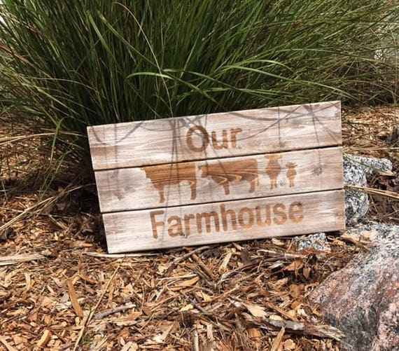 Personalized Family Sign, Cow Sign, Wooden Sign, Rustic Cow Sign, Rustic Farmhouse Sign, Country Sign, Country Decor, Home Decor, Farms