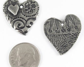 TierraCast Lead Free Pendants-Pewter AMOR HEART 22x25mm (2)