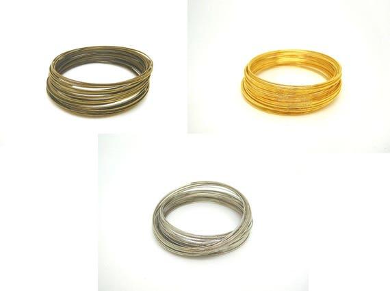 50 tours fil m moire pour bracelet en acier 55mm bronze. Black Bedroom Furniture Sets. Home Design Ideas