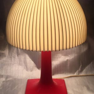 Plastic Tulip Mushroom Table Lamp