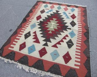 small kilim rug - moroccan rug beni ourain rug