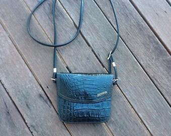 VINTAGE leather boho festival shoulder cross body purse handbag