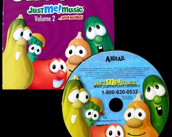 Personalized Veggie Tales Silly Songs CD- Real character voices!  Quality Archival CD's used - Digital option available upon request