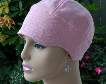 Cancer Cap Alopecia Soft Hair Loss Hat Chemo Cap Made in the USA Reversible SMALL- MEDIUM
