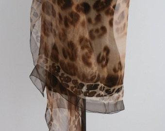 Silk scarf, 100% hand made, unique piece