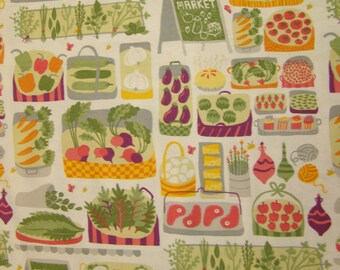 Farmer's Market Flannel Fabric