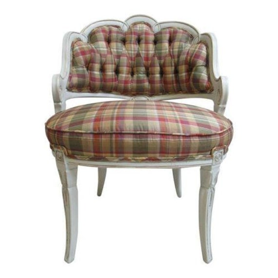 Vintage French Carved Living Room Lounge Chair  A