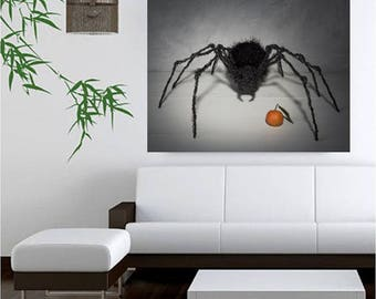 Cotton canvas print, Paper print,Office decor, Printable art,Art Poster, spider print, living room wall decor, steampunk print, gift for men