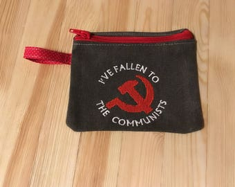 Fallen to the communists, tampon purse,The IT Crowd,period pouch, first period gift,Russia,menstruation kit, Red October, Vampire teabags