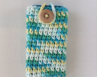 Crochet Button-Up Phone Cozy
