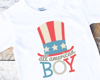 New All American Boy Onesies®, 4th of July Onesie, Independence Day Onesie, Red White And Blue Onesie, Baby Boy Onesie, Memorial Day Baby