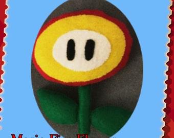 Mario Pals Fire Flower Power-Up Felt Plush