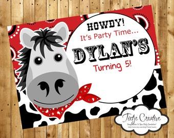 Howdy Birthday Invitation
