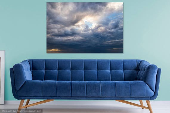SILVER LINING. Cloudscape Print, Cloudy Sky, Fuerteventura, Large Prints, Limited Edition, Fine Art Photography