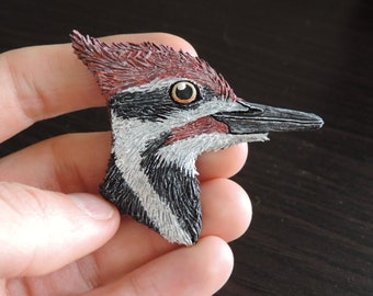 Hand-Made Pileated Woodpecker Bird Magnet