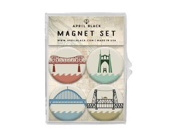 Portland Bridge Magnets