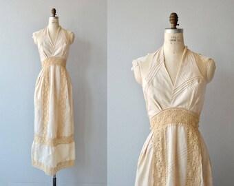 Astral Weeks dress | vintage 1970s wedding dress | crochet 70s maxi dress