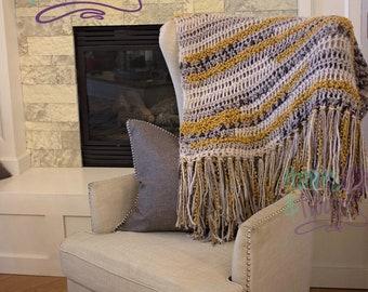 Fringe throw blanket **finished**