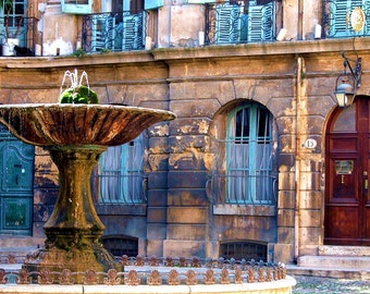 Travel Photography- The Beauty of Aix-en-Provence, France- Landscape, Architectural, Fountain, Art, French, European, Fine Art Photography