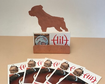 Rottweiler Business Card Holder, Copper Desk Accessory, Rottie gifts for dog lover  Rottweiler items, dog gifts