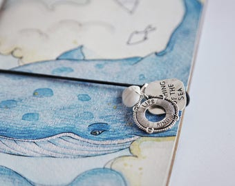 Notebook charms - Traveler Notebook charms: sea shell