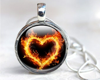 Photo Pendant Heart - Heart Glass Pendant - Heart Pendant Photo