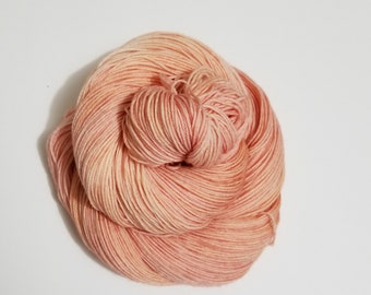 Peachy Keen, Hand Dyed Yarn, Sock Yarn, Merino, Nylon, Dye to Order,