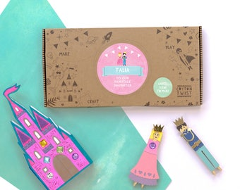 Personalised Princess Castle Scene Craft It Kit