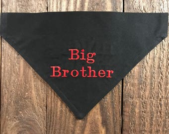 Big Brother Dog Bandana Birth Announcement Big Brother