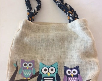 owl tote medium size
