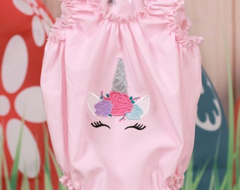 Spring Time Romper (Unicorn or Bunnies)