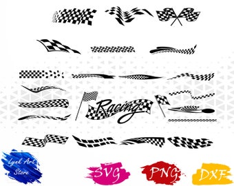 Racing flag svg,png,dxf/Racing flag clipart for Print/Design/Cricut/Silhouette...etc
