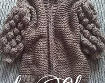 Discount 15%/ Ready To Ship/ Chunky Knit Oversize Cardigan  / Brown Chunky Modern Stylish Cardigan / Christmas Gift, Chunky knit Sweater
