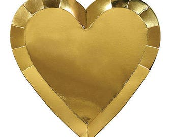 Large Gold Heart Plates