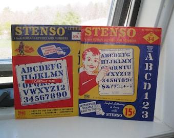 1950s Stenso Lettering Company Stencils