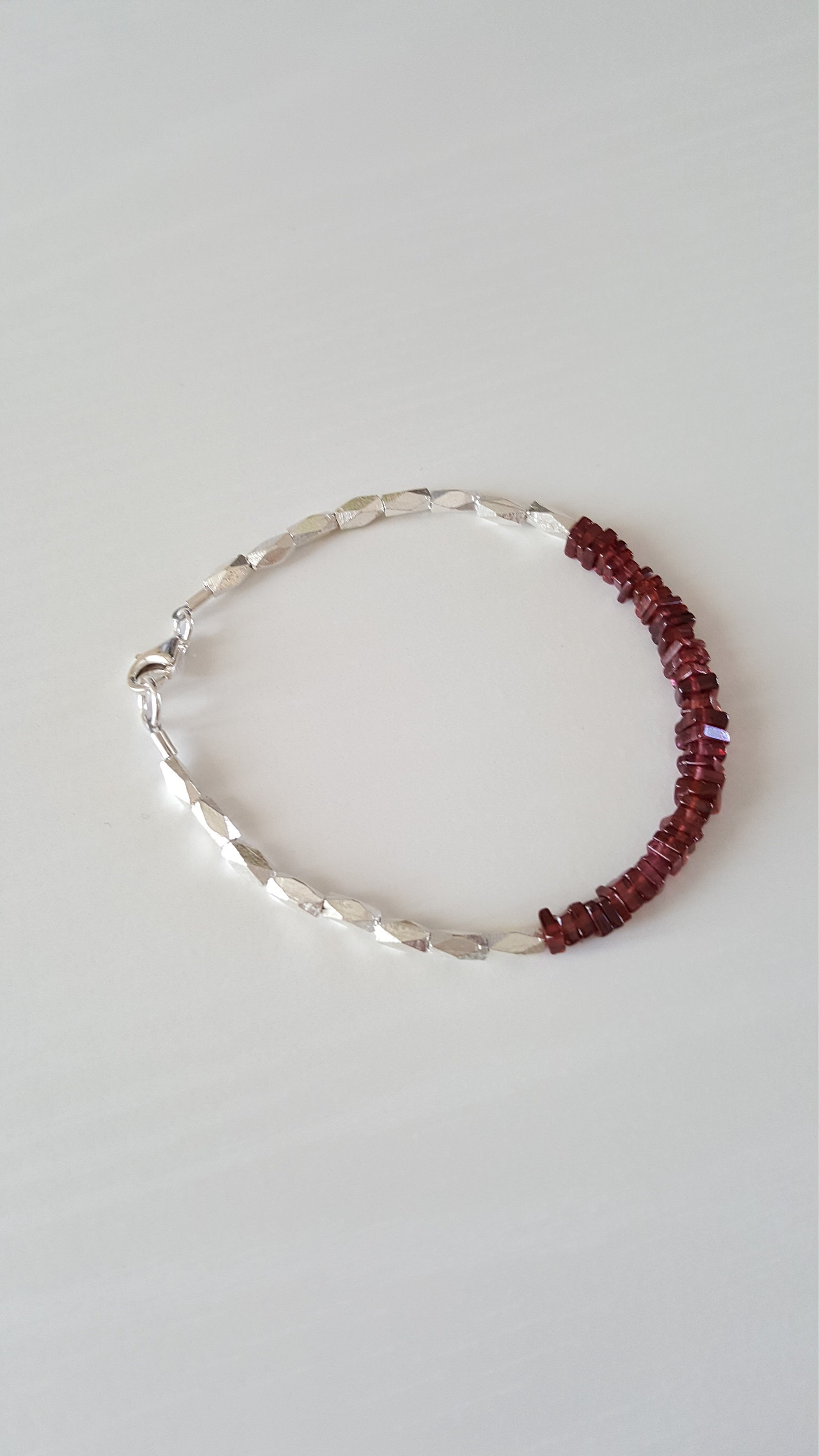fullxfull il wrap birthstone bracelet january double gemstone slip listing red iuwy on garnet