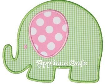 393 Elephant Machine Embroidery Applique Design