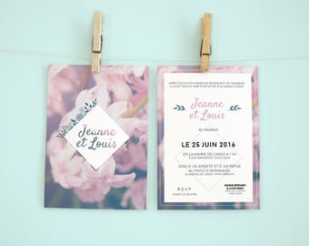 """The Atamaca Roses"" wedding invitation"