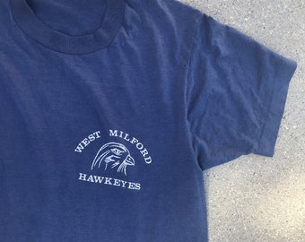 The Vintage Navy Blue Champion Tshirt Tee Size Small