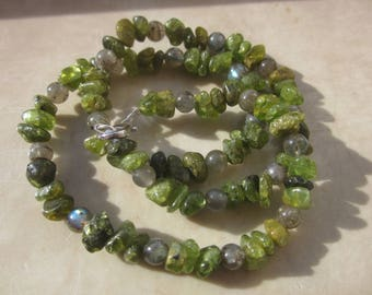 Labradorite Peridot Necklace
