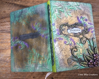 Polymer Clay Journal, Personalized Journal, Custom Journal, Polymer clay Sketchbook, Personalized Sketchbook, Custom Sketchbook, Diary