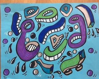 Untitled pop art drawing