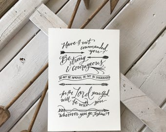Joshua 1:9 - Bella Scriptura Collection from Paperglaze Calligraphy