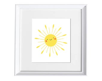 Happy Sun Art Print