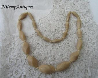 Ivorine bead necklace 1920's