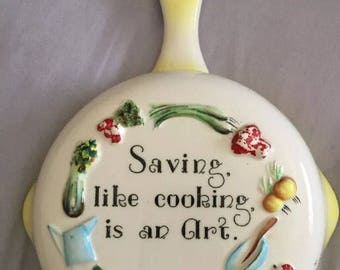 1957 Saving Like Cooking is an Art Vintage Bank