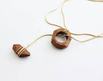 Wood Necklace, Tribal Necklace, Festival Wear, Wooden Necklace, Wood Jewelry, Lariat Necklace, Ethnic Jewelry, Long Boho Necklace