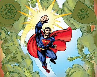 Superman Knocks Out American Fascists